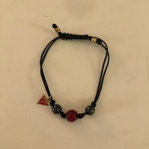 Adjustable Red Crystal Guess Bracelet